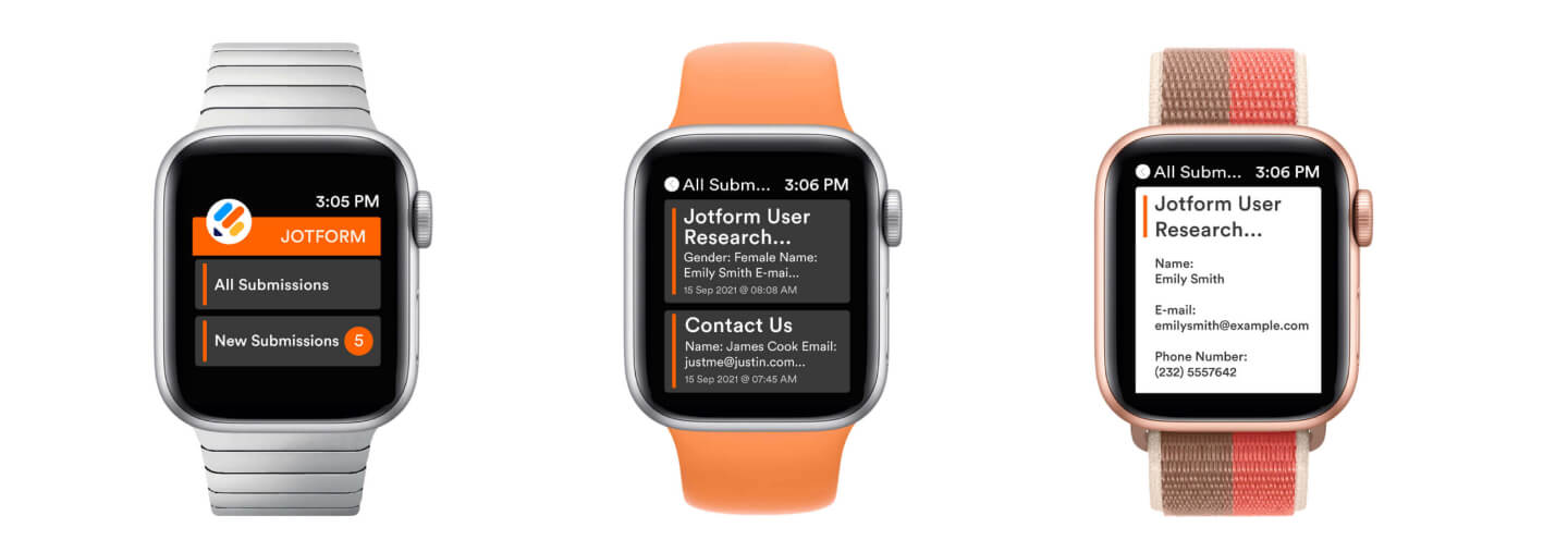JotForm Apple Watch App