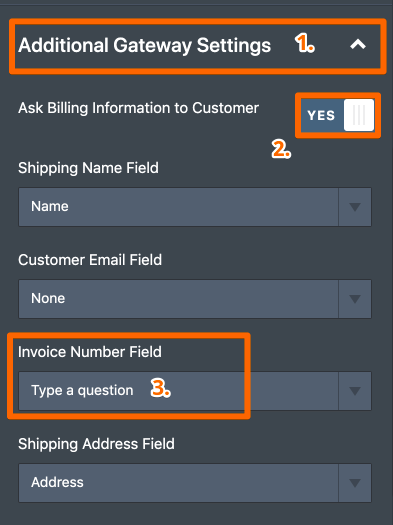 How to send invoice number to Authorize.net?