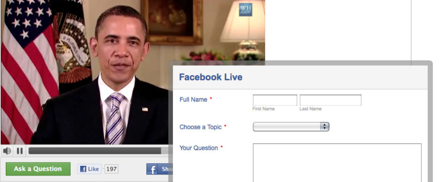 Ask President Obama on Facebook Live Townhall