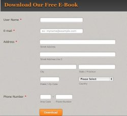 free e-book registration page