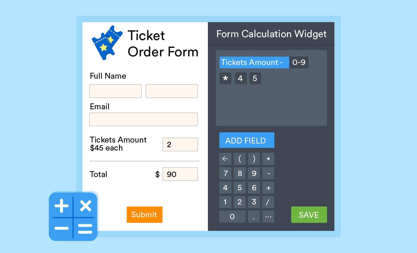 form calculation widget