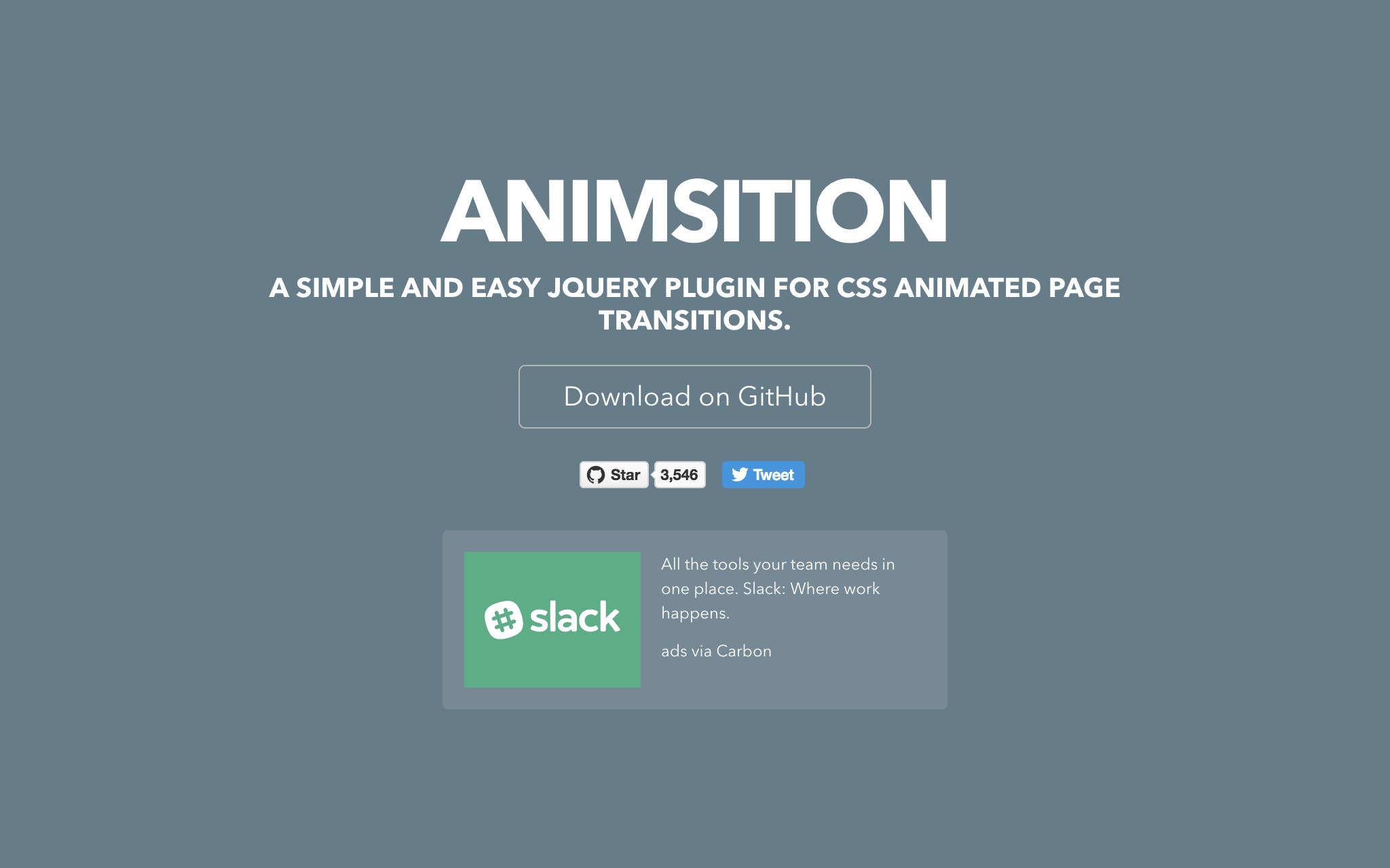 Animsition: User-Friendly jQuery-Plugin for Animated Page Transitions