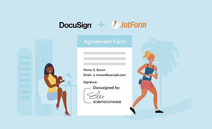 How to create Docusign forms with JotForm's widget