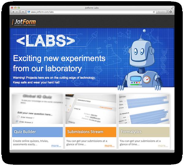Introducing JotForm Labs