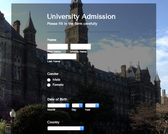 Tips for Making Better Higher Education Forms