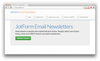 New App: JotForm Email Newsletters