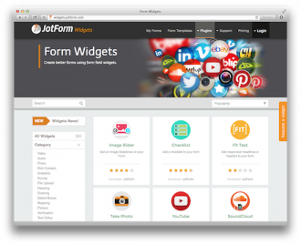 JotForm Widgets Used One Million Times!