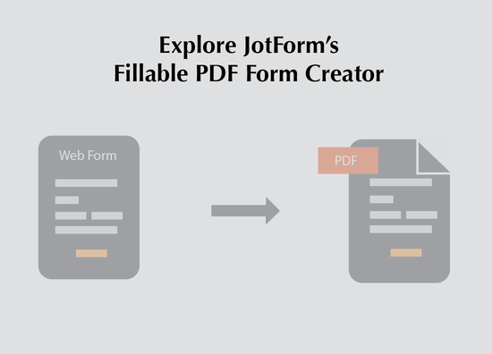 How to Create a Fillable PDF Form using JotForm | The