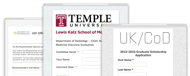 13 of The Most Common Online Forms for Higher Education