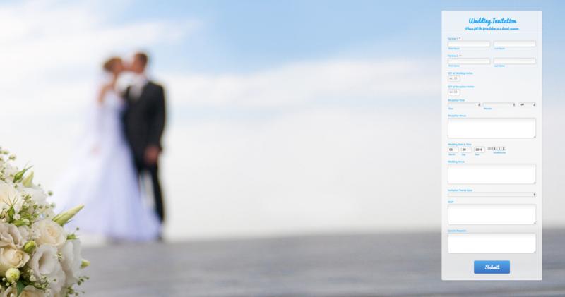 Create custom wedding invitations with JotForm
