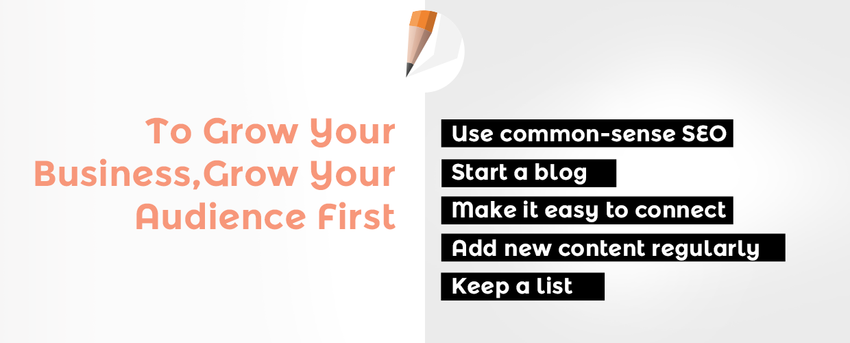 To Grow Your Business, Grow Your Audience First