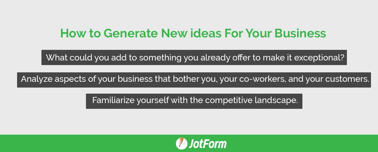 How to Generate New ideas For Your Business