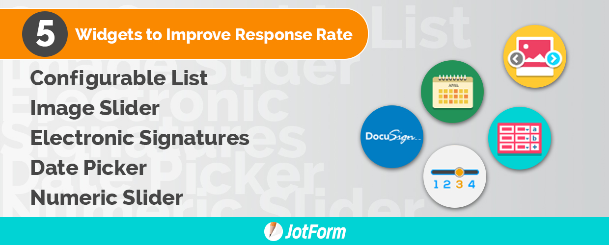 Five Widgets That Can Improve Your Response Rate