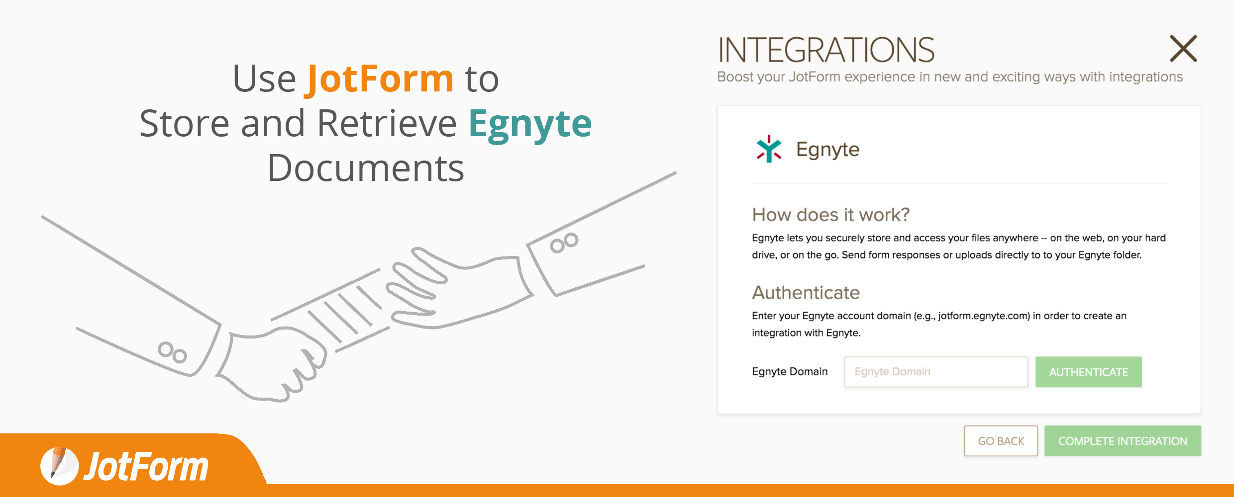 Use JotForm to Store and Retrieve Egnyte Documents