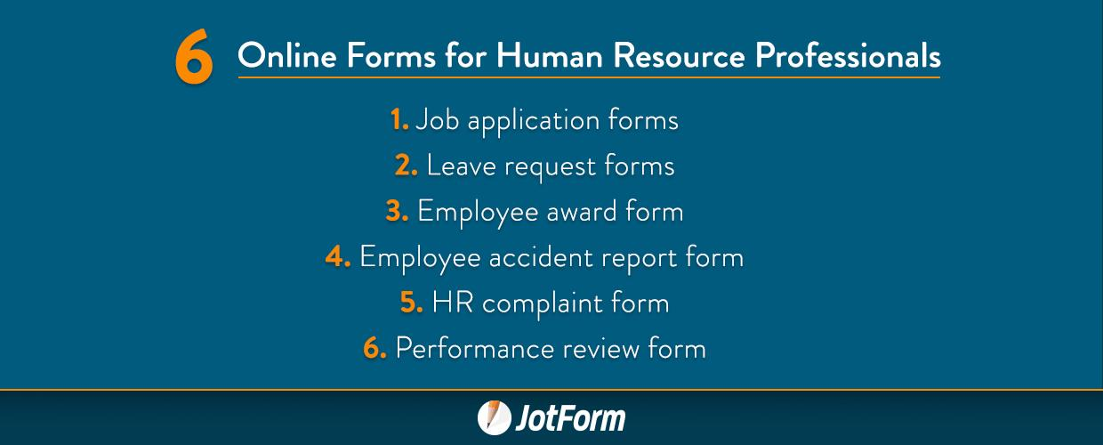 6 Online Forms For Human Resource Professionals The Jotform Blog
