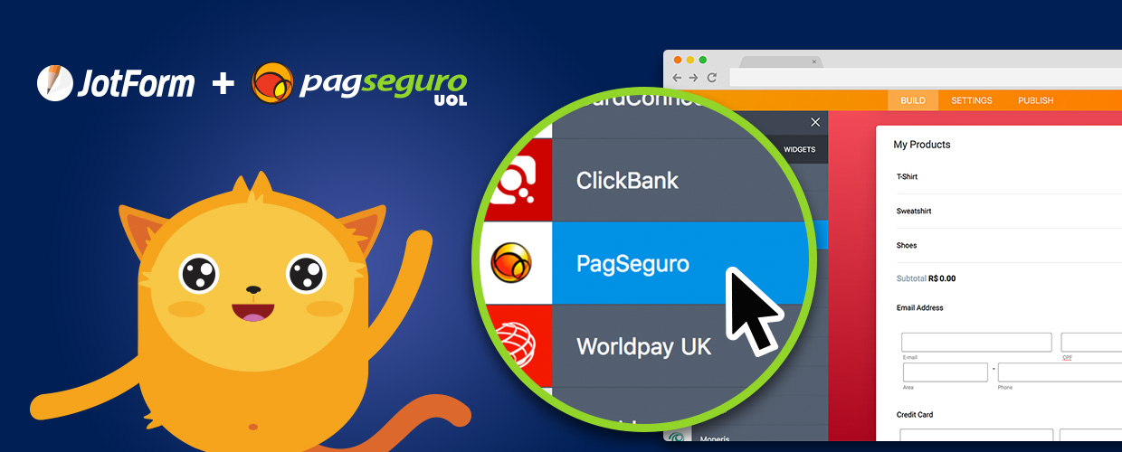 New Integration: Collect PagSeguro Payments Through JotForm