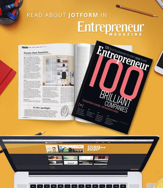 Read About JotForm in Entrepreneur Magazine