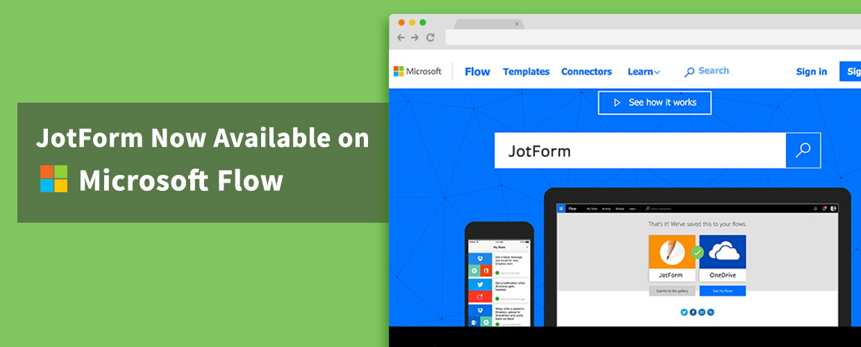 JotForm Now Available on Microsoft Flow | The JotForm Blog