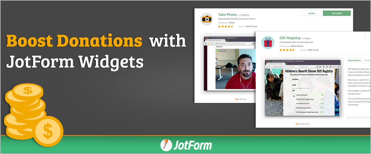 Boost Donations This Year with JotForm Widgets