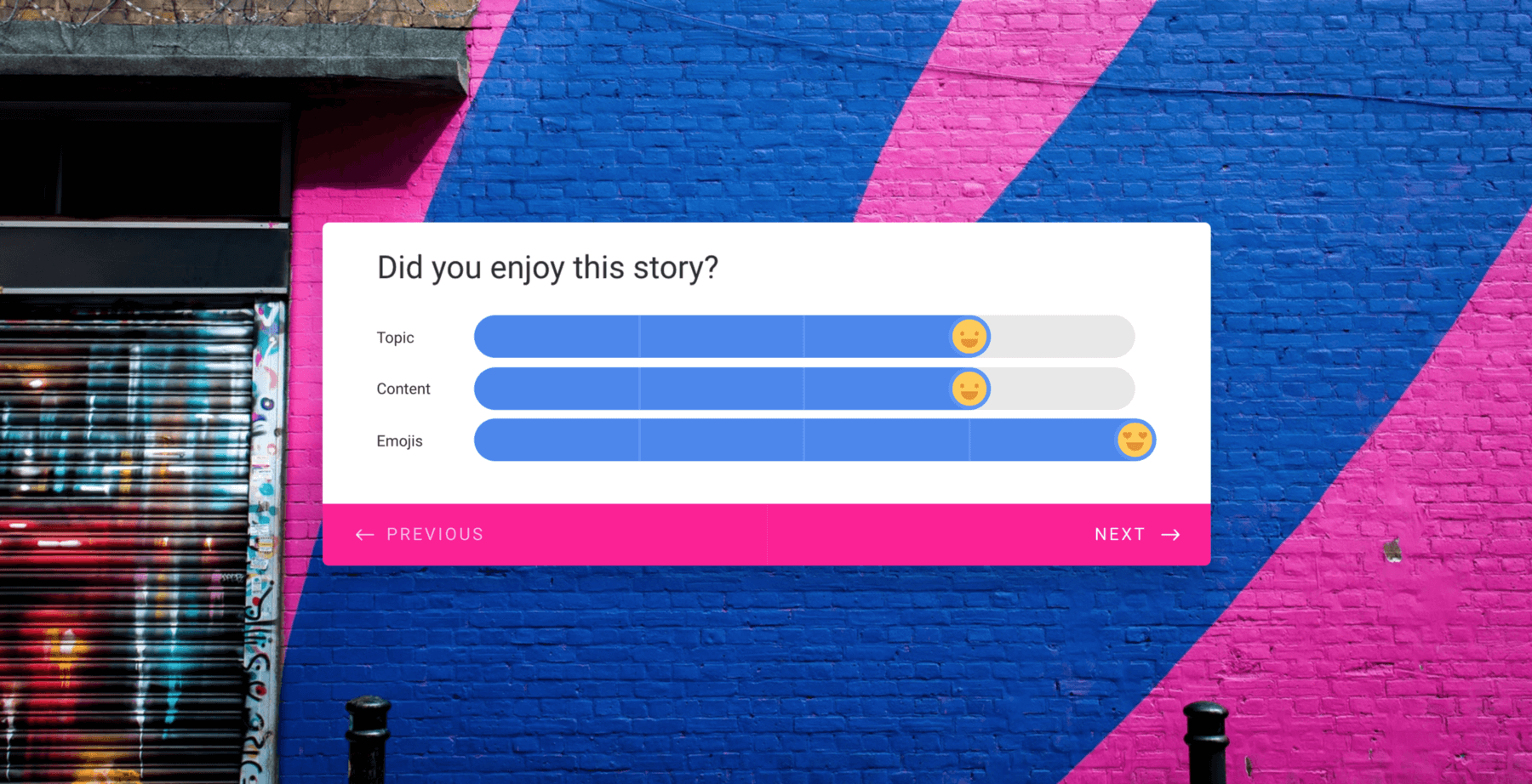 Beyond Likert scales: how we made boring form-filling more fun