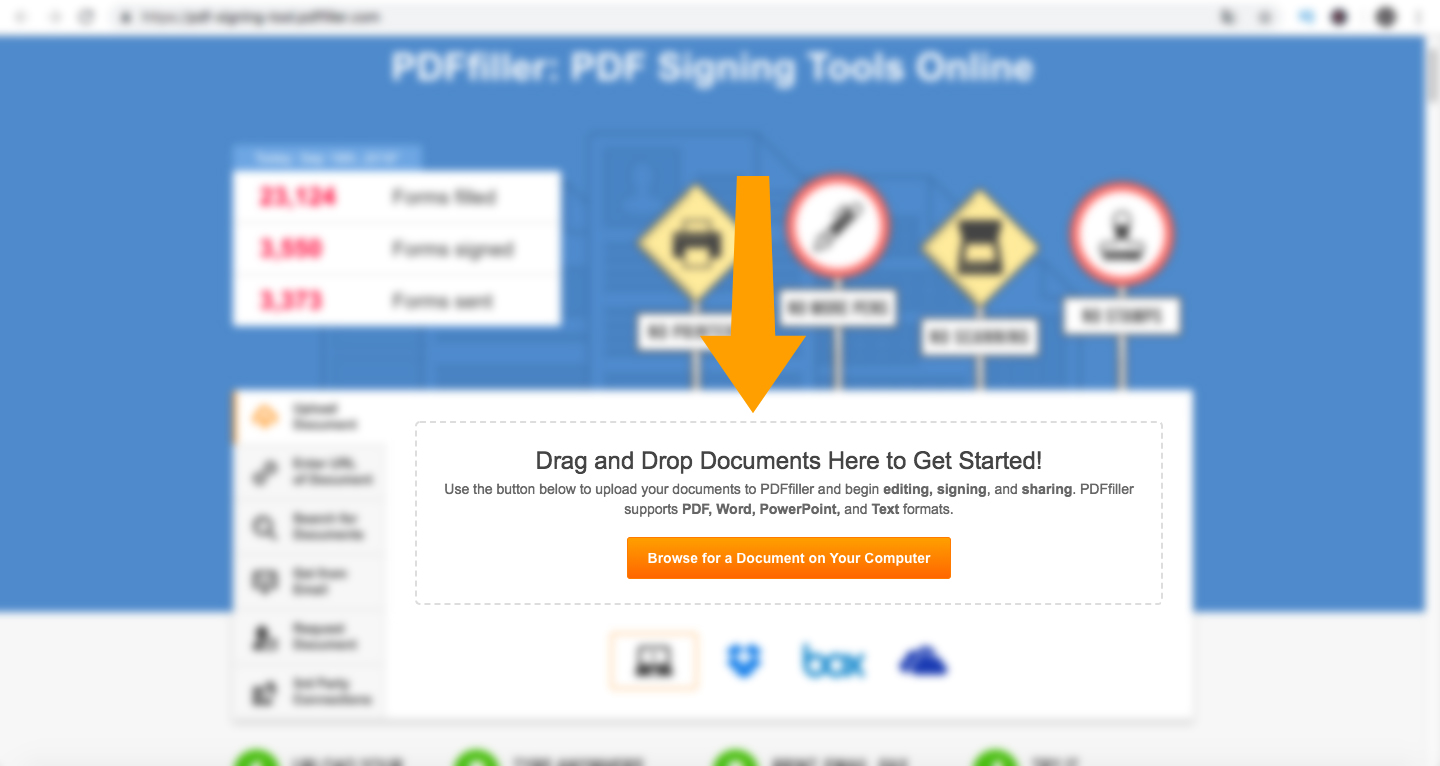 PDF Filler Drag and Drop