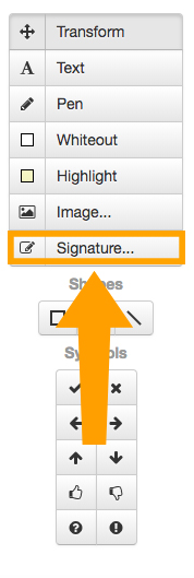 how to get a signature into a pdf file