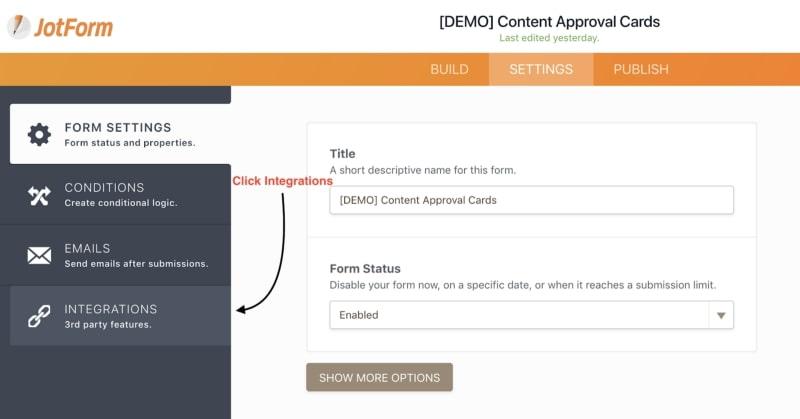 JotForm Integrations Approval Workflow