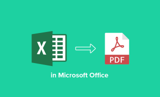How to convert Excel to PDF in Microsoft Office