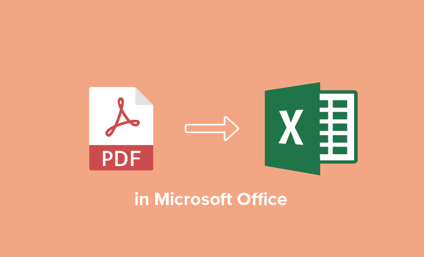 How to convert PDF to Excel in Microsoft Office