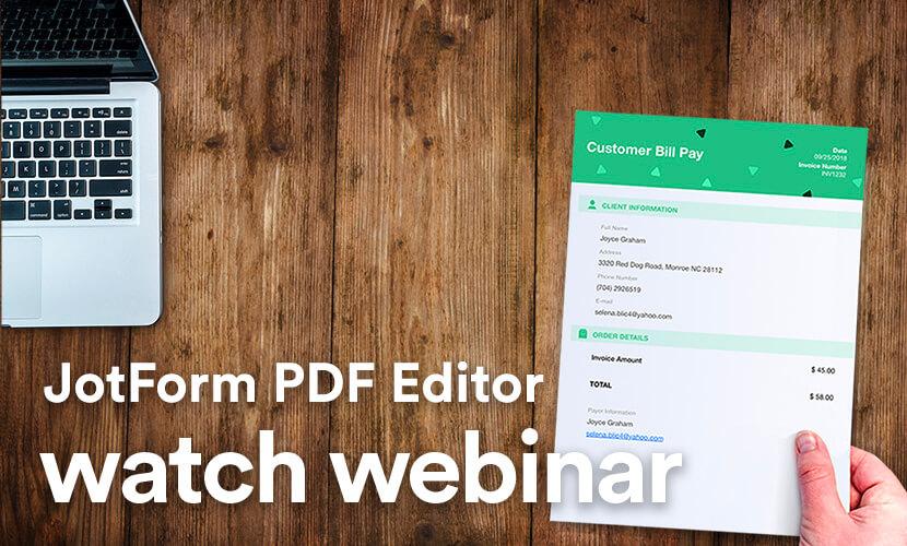 Jotform PDF Editor Webinar