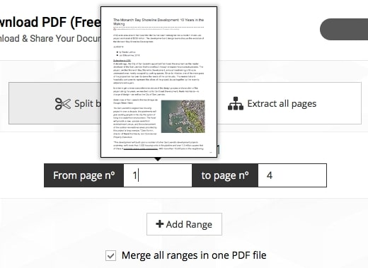 pdf split pages into separate documents