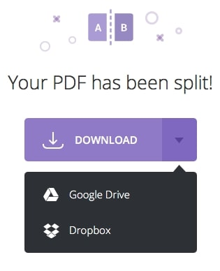 "split PDF files in PDF.io ""download screen"""