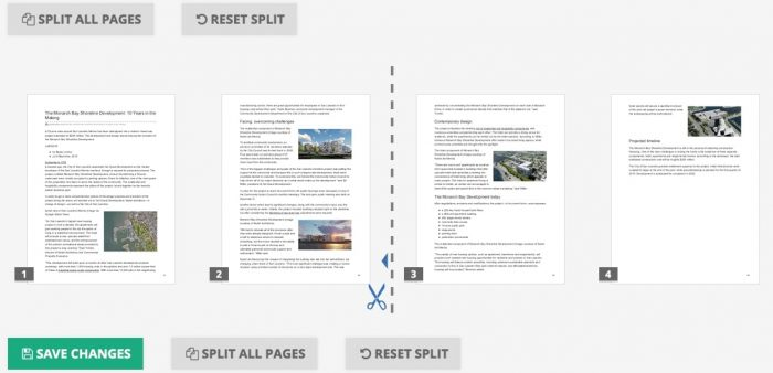 "split PDF files in PDF2Go ""split screen"""