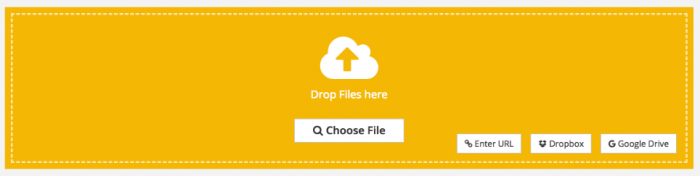 Select the file, PDF2Go