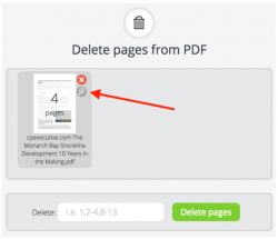 Magnify pages before deletion, PDFCandy