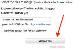 Merge files, DocuPub
