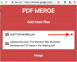 Add files, PDF Merge Files