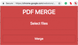 Select files, PDF Merge Files