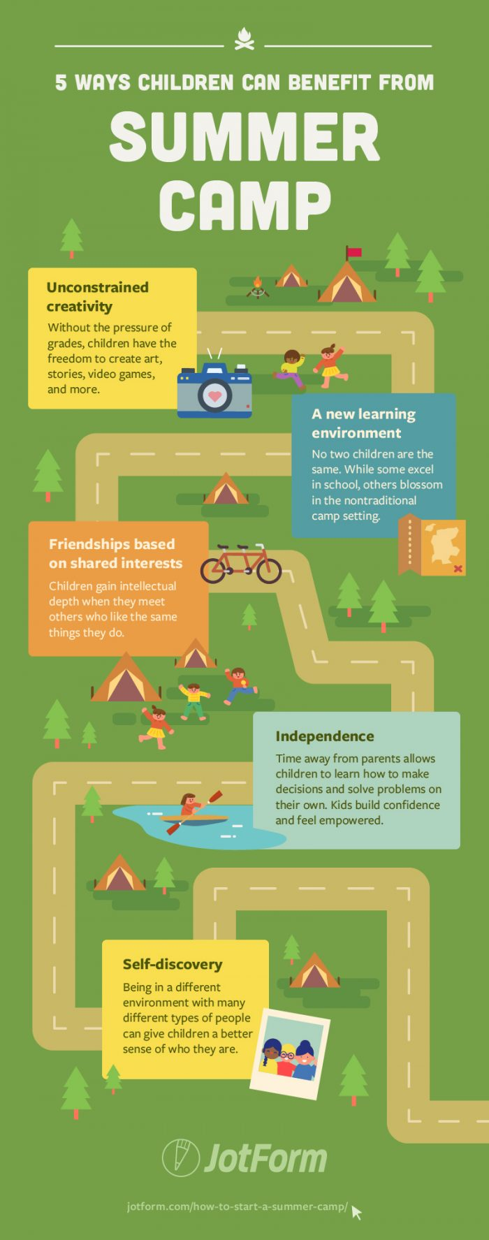 5 summer camp benefits for kids