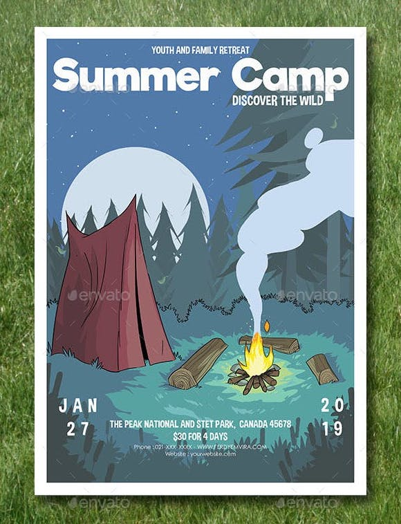 campfire flyer poster