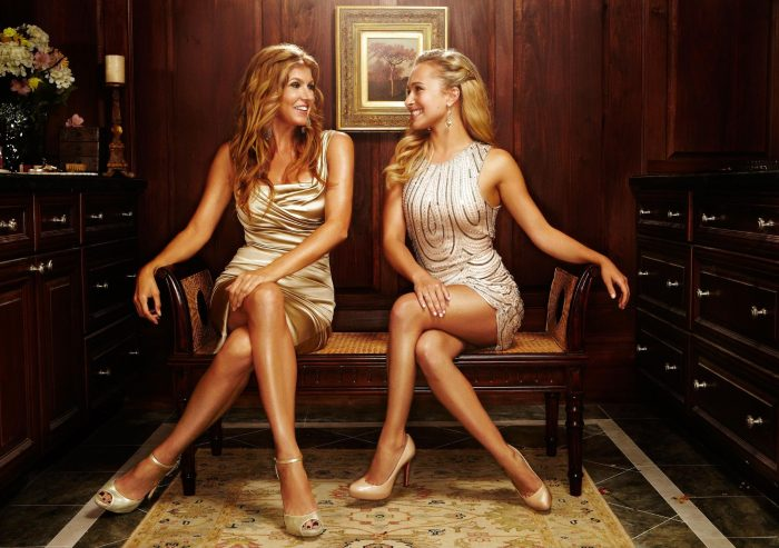 Connie Britton and Hayden Panettiere by Jeremy Cowart