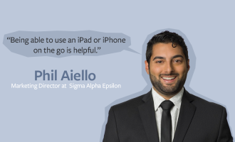 How a fraternity manages data while on the go with a forms app