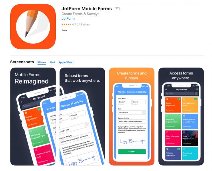 JotForm Mobile Forms