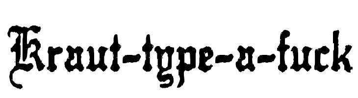 Kraut Type-A-F**k