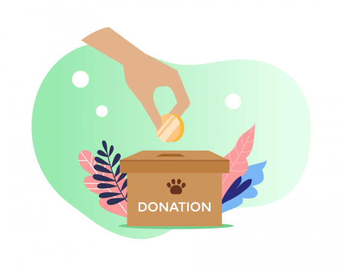 A donor is making a donation to an animal rescue organization