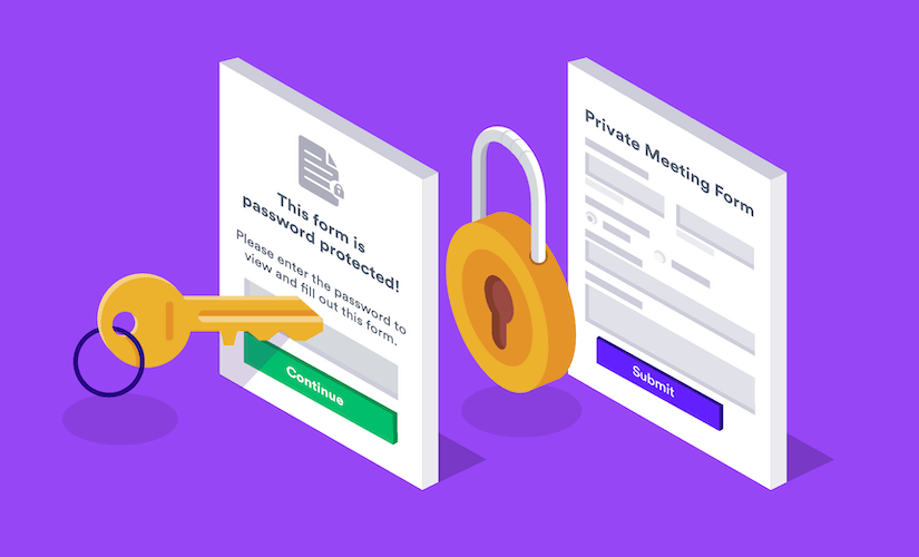 Announcing password-protected forms