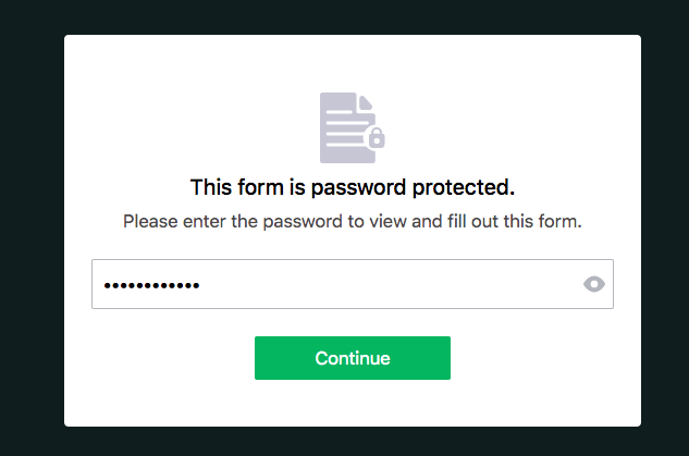 Password protected form password check