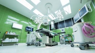 A hospital operating room ready for the next patient