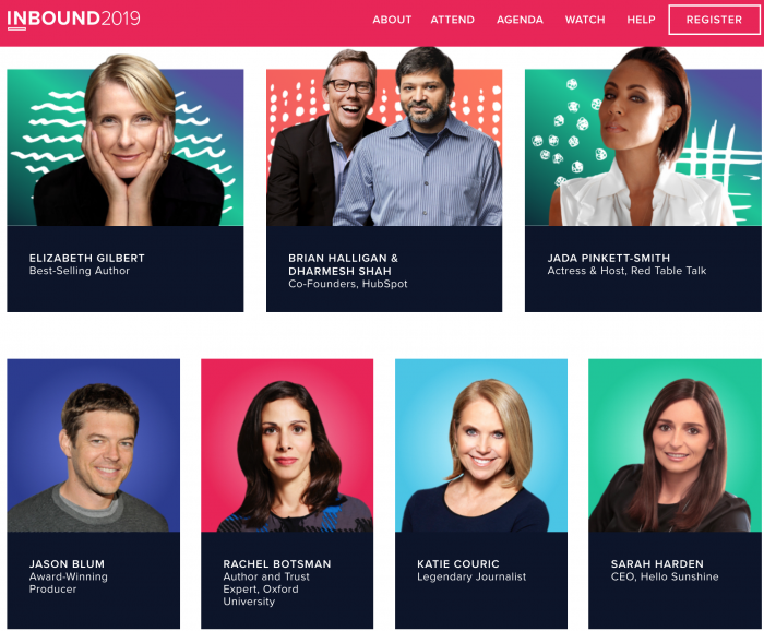 speakers from Inbound conference