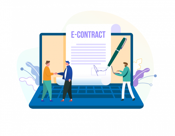 online contract with electronic signatures